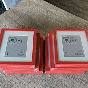 """NWT 6x red wood picture frames 7 3/4""""x9 3/4"""""""